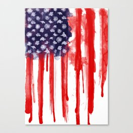 American Spatter Flag Canvas Print