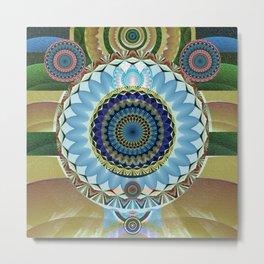 Gentle Grounding Earthling Mandala Landscape Metal Print