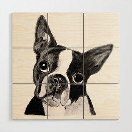 Boston Terrier Wood Wall Art