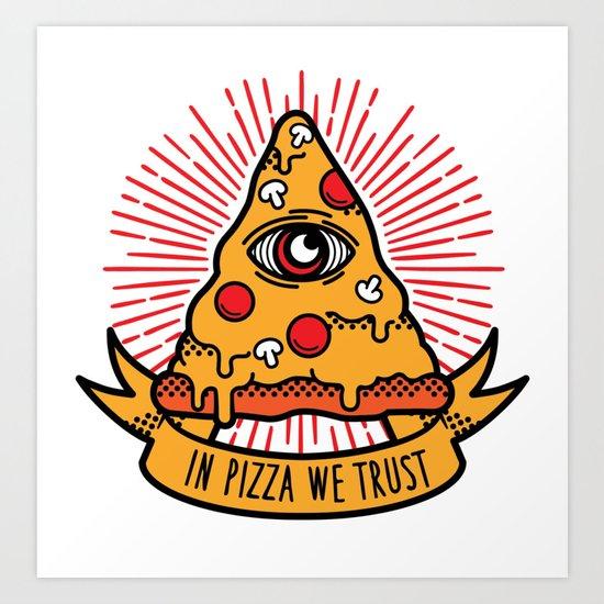 Pizza illuminati Art Print