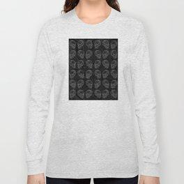Skulls Over Swirls Long Sleeve T-shirt