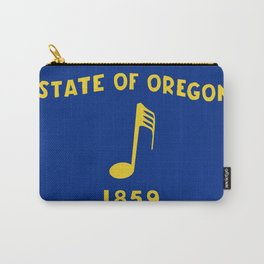 Musical Oregon State Flag Carry-All Pouch