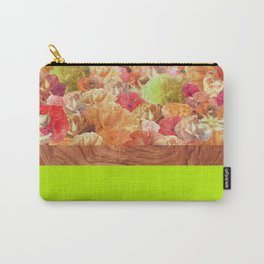 Layers Floral Lime Carry-All Pouch