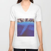 aviation V-neck T-shirts featuring underwater aviation  by lizbee