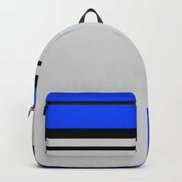Cross Lines in blues Backpack
