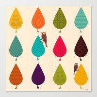 leaves Canvas Prints featuring Leaves by Kakel