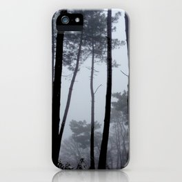 Fog and Forest III-wood,mist,romantic, greenery,sunset,dawn,Landes forest,fantasy iPhone Case