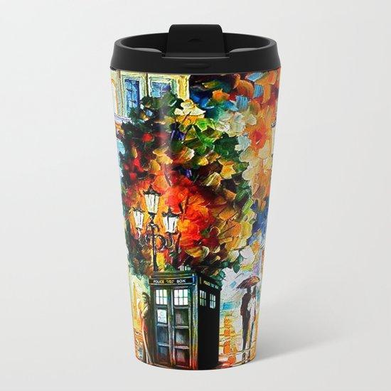Tardis In The City Metal Travel Mug