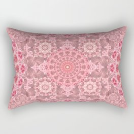 Crystal Garden Mandala Rectangular Pillow