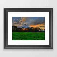 Sunset after the Storm Framed Art Print