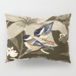 Bird-Chickadees with Lillies Pillow Sham