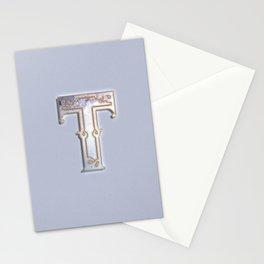 T letter monogram Stationery Cards