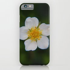 White Strawberry Flower Slim Case iPhone 6s