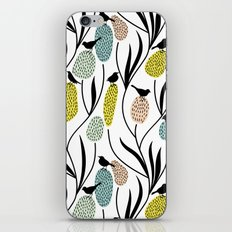Decorative Birds - Graphic pattern pretty birds and flowers iPhone & iPod Skin