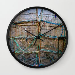Lobster Cages II Wall Clock