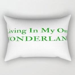 Living In My Own Wonderland in Green Rectangular Pillow
