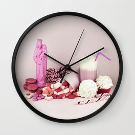 Sweet pink doom - still life Wall Clock