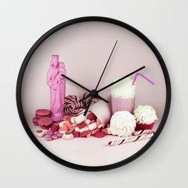 Sweet pink doom - still life Wall Clock