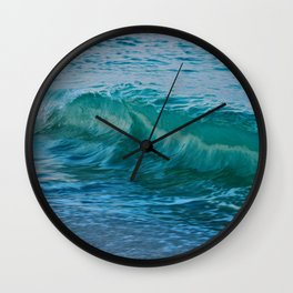 Crashing Wave at Dusk Wall Clock