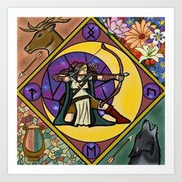 Goddess of the hunt Art Print