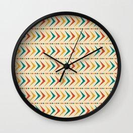 Rita / 50s Mid-Century Vintage Retro Pattern Wall Clock