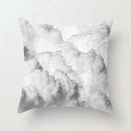 Ominous Fluffy Clouds Stormy Sky Throw Pillow