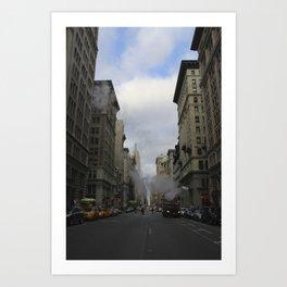 New York Street  Art Print