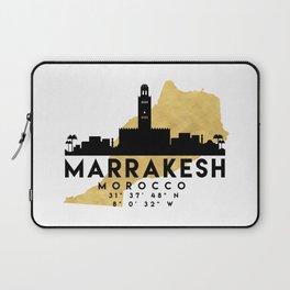 MARRAKESH MOROCCO SILHOUETTE SKYLINE MAP ART Laptop Sleeve