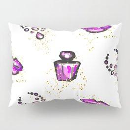 Purple lips with perfume Pillow Sham