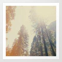yosemite Art Prints featuring Yosemite by samantha lawson