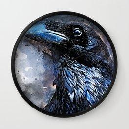 Crow art #crow #bird #animals Wall Clock