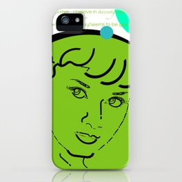 Audrey Hepburn / Typography Layout / Lime iPhone Case