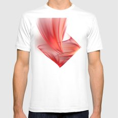 passion White MEDIUM Mens Fitted Tee