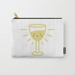 Kawaii White Wine Glass Carry-All Pouch