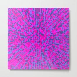 Hot pink hopscotch Metal Print