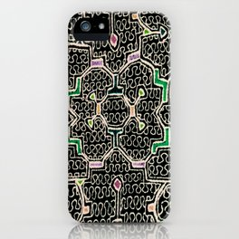 Song for Good Work - Traditional Shipibo Art - Indigenous Ayahuasca Patterns iPhone Case