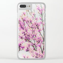 Magnolia in a vintage look Clear iPhone Case