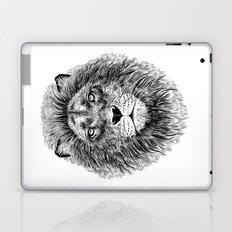 Black+White Lion Laptop & iPad Skin
