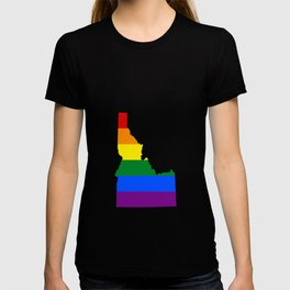 LGBT Flag Map of Idaho T-shirt