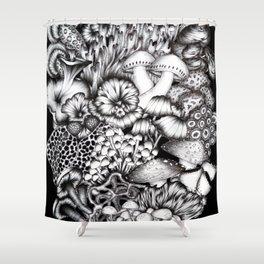 Midnight Mushrooms Shower Curtain