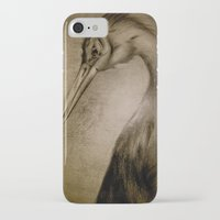 crane iPhone & iPod Cases featuring crane by AimeeManingas