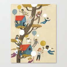 treehouse neighbours Canvas Print
