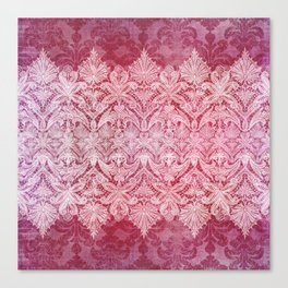 ABERDEEN HEIRLOOM, LACE & DAMASK: REBECCA'S RED Canvas Print