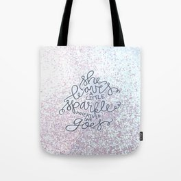 She Leaves A Little Sparkle -  Sparkle BW Tote Bag