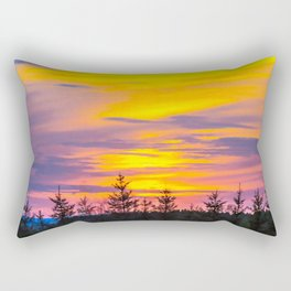 Sunset above the forest Rectangular Pillow