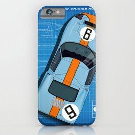GT40 Le Mans 1968 Blueprint iPhone Case