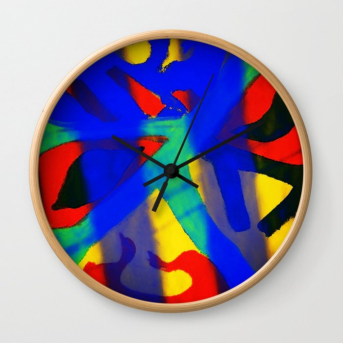 Behind the Mask Wall Clock