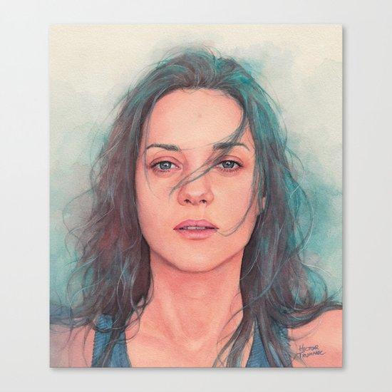 Marion Cotillard watercolor Canvas Print