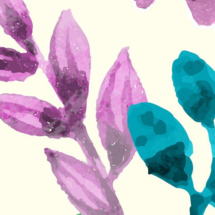 Watercolor Floral Pattern Leggings