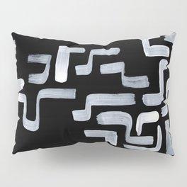 Strange Minimalist Abstract Ghostly Tribal Primitive Art Mid Century Modern Pattern Pillow Sham